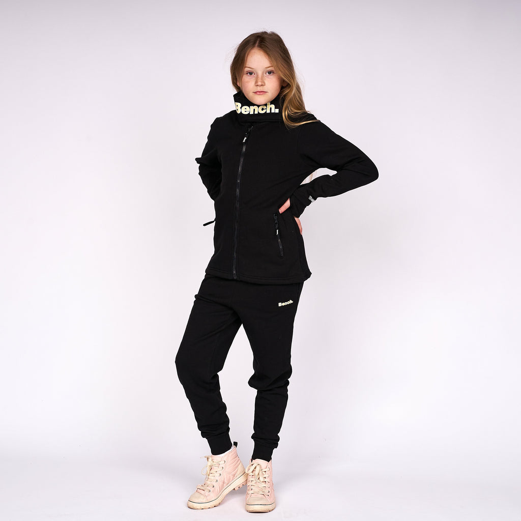 Girls Monica Zip Thru Sweat Black