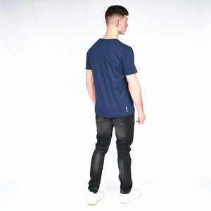 Mens Border T-Shirt Navy