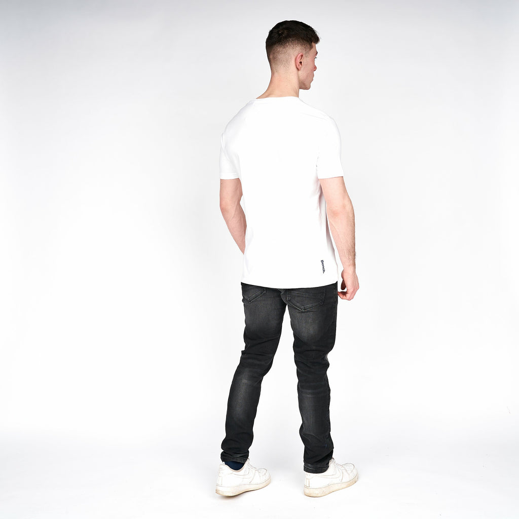 Mens Border T-Shirt White