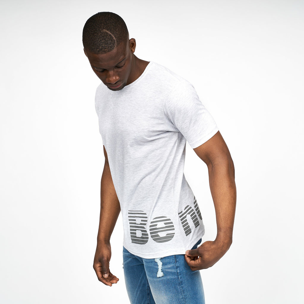 Mens Butler T-Shirt Light Grey Marl