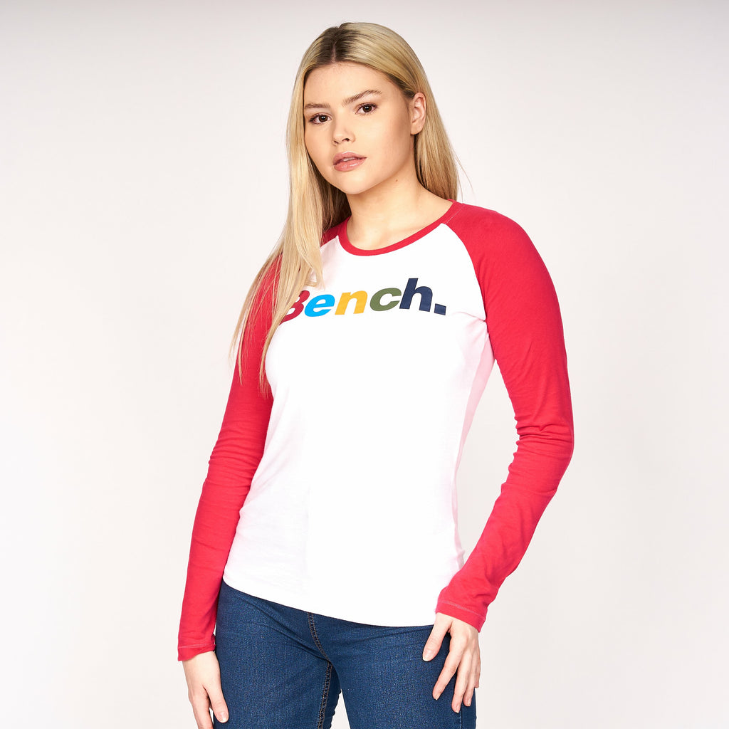 Womens Cadence Long Sleeve T-Shirt Red