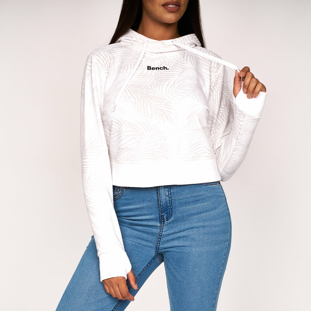 Womens Capplella Crop Hoodie White