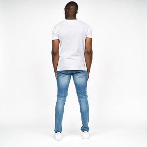 Mens Cortez T-Shirt Light Grey Marl
