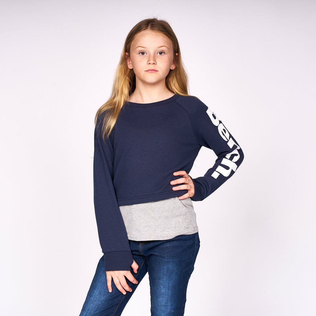 Girls Danceable Sweat Navy