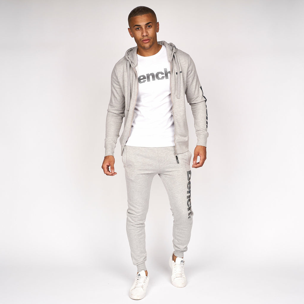 Mens Hazard Zip Thru Hoodie Grey Marl