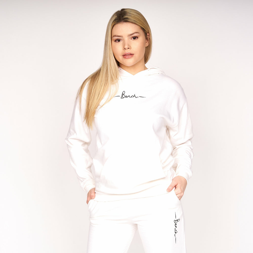 Womens Sustainable Laya Hoodie White