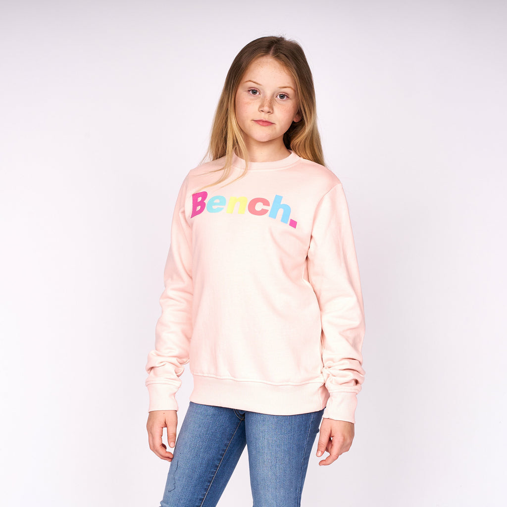 Girls Leanne Crew Sweat Mauve Chalk
