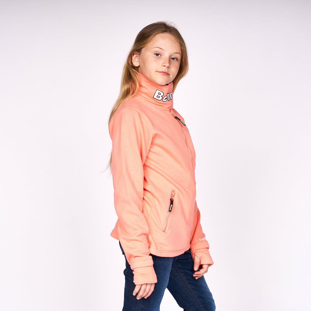 Girls Monica Zip Thru Sweat Pink