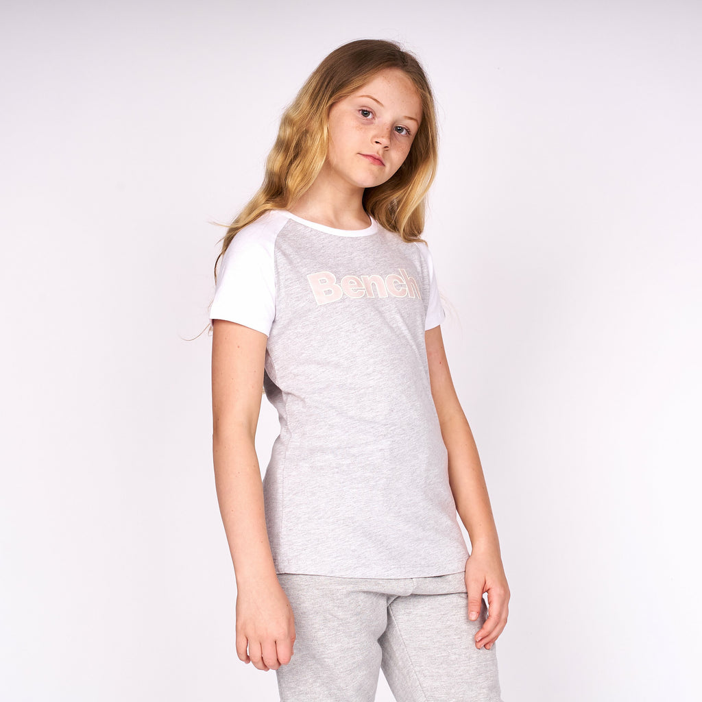 Girls Nicolina T-Shirt Grey Marl