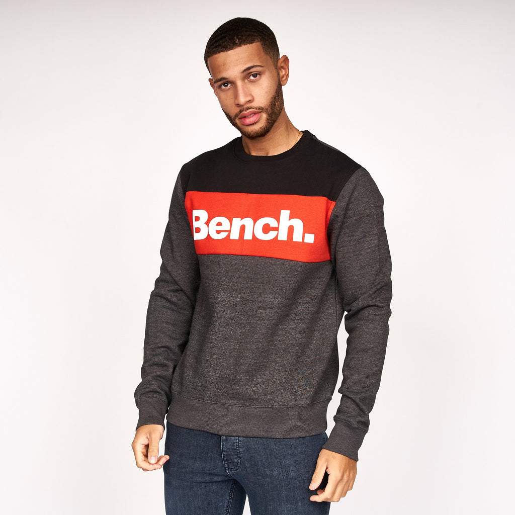 Mens Nilan Crew Sweat Charcoal Marl