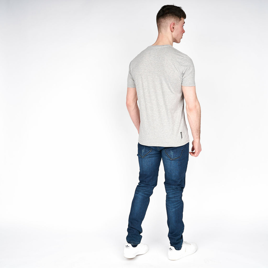 Mens Salford T-Shirt Grey Marl