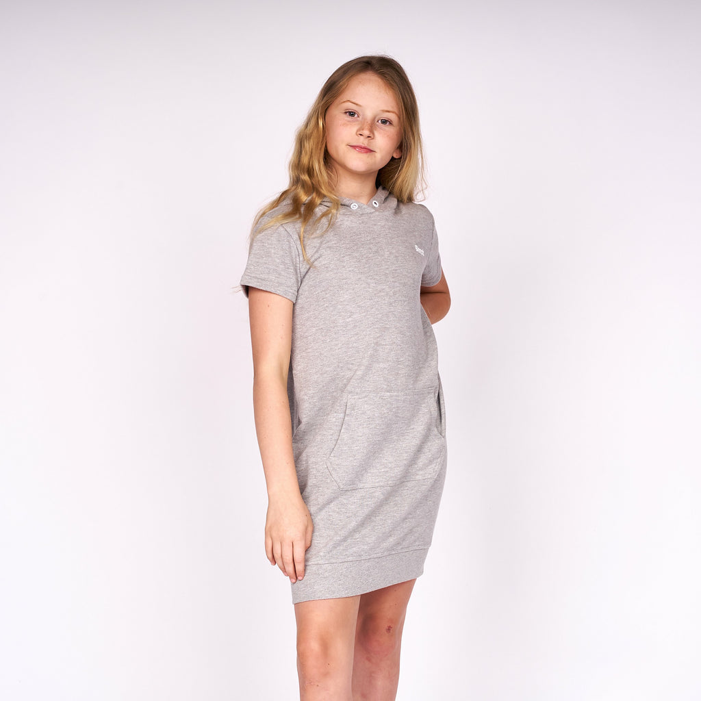 Girls Shinehood Dress Grey Marl