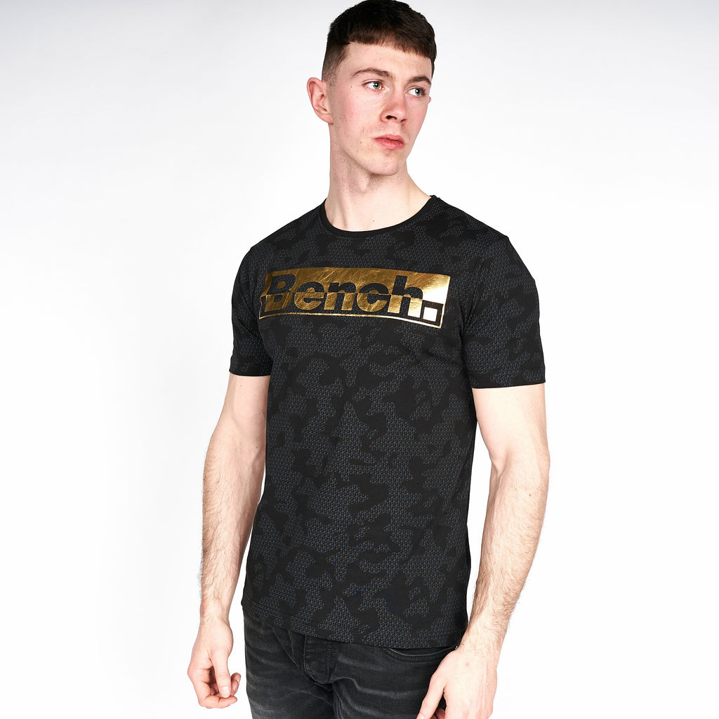 Mens Stayton T-Shirt Black Camo