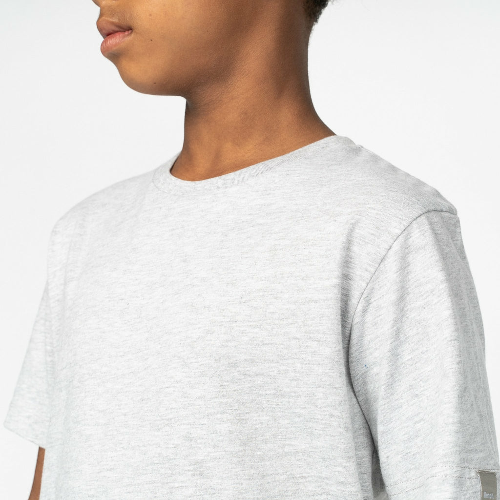 Boys Joshua T-Shirt Grey Marl - Bench Clothing - #LoveMyHood7-8yrsT-Shirts