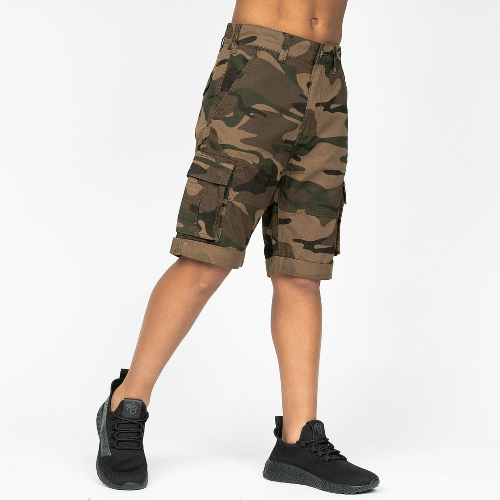 Boys Nadal Shorts Khaki Camo - Bench Clothing - #LoveMyHood11-12yrsShorts