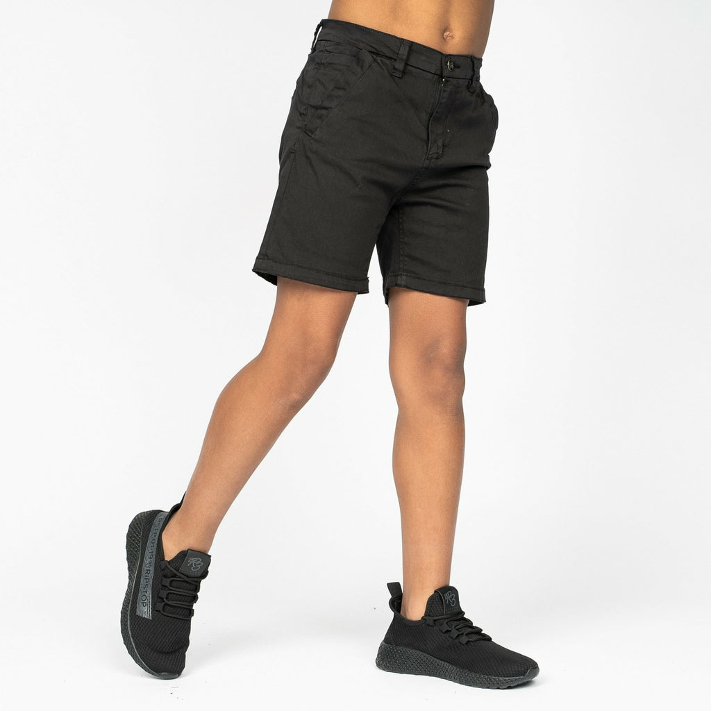 Boys Sol Chino Shorts Black - Bench Clothing - #LoveMyHood7-8yrsShorts