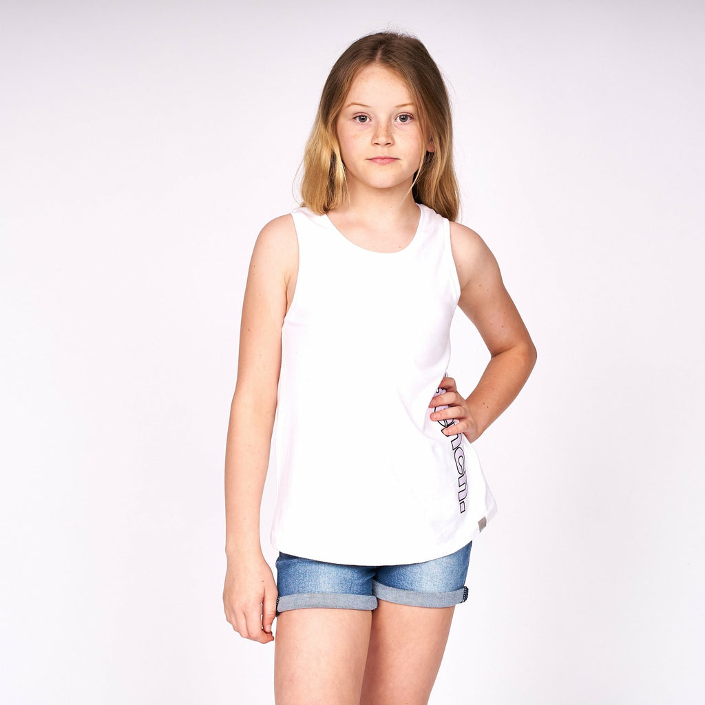 Girls Alina Vest White - Bench Clothing - #LoveMyHood7-8yrsT-Shirts