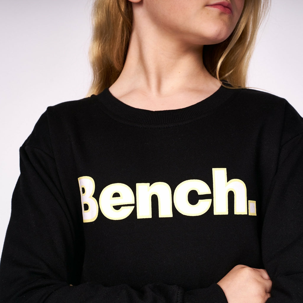 Girls Delphine Sweat Crop Jet Black - Bench Clothing - #LoveMyHood5-6 YEARSHoodies