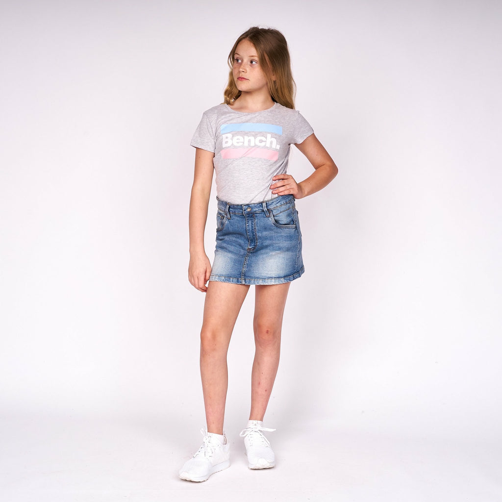 Girls Imogen T-Shirt Grey Marl - Bench Clothing - #LoveMyHood7-8yrsT-Shirts