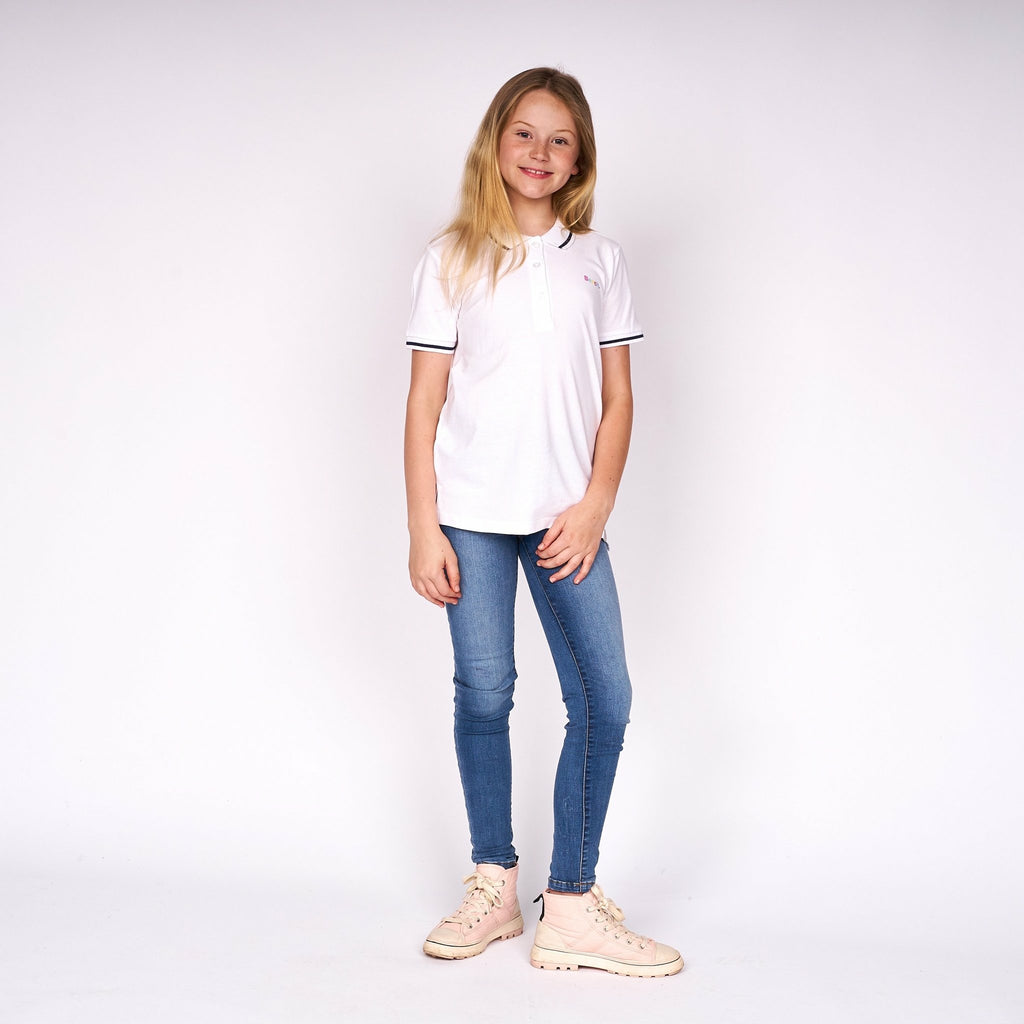 Girls Malia Polo White - Bench Clothing - #LoveMyHood7-8yrsPolos