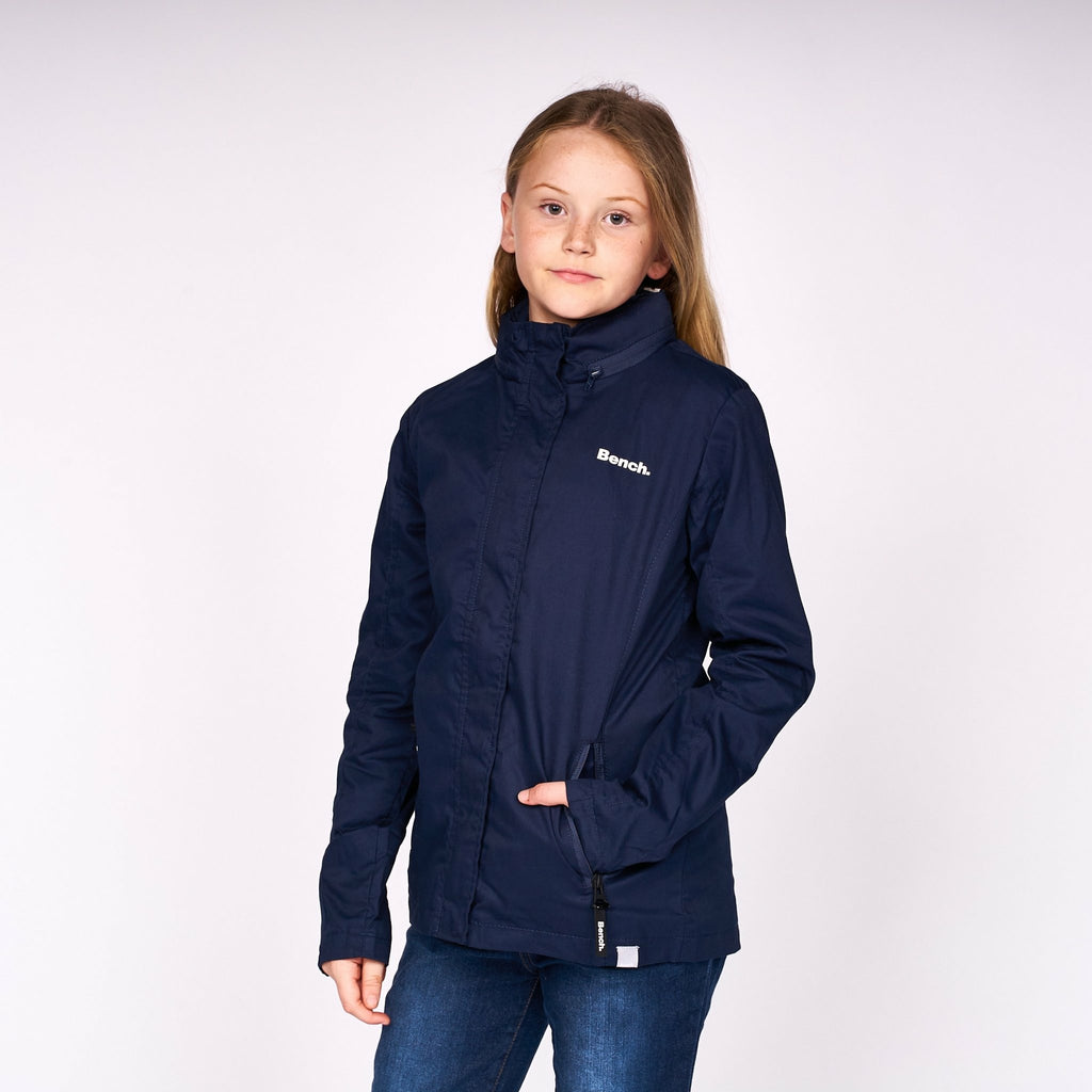 Girls Serena Jacket Navy - Bench Clothing - #LoveMyHood11- 12 YRSJacket