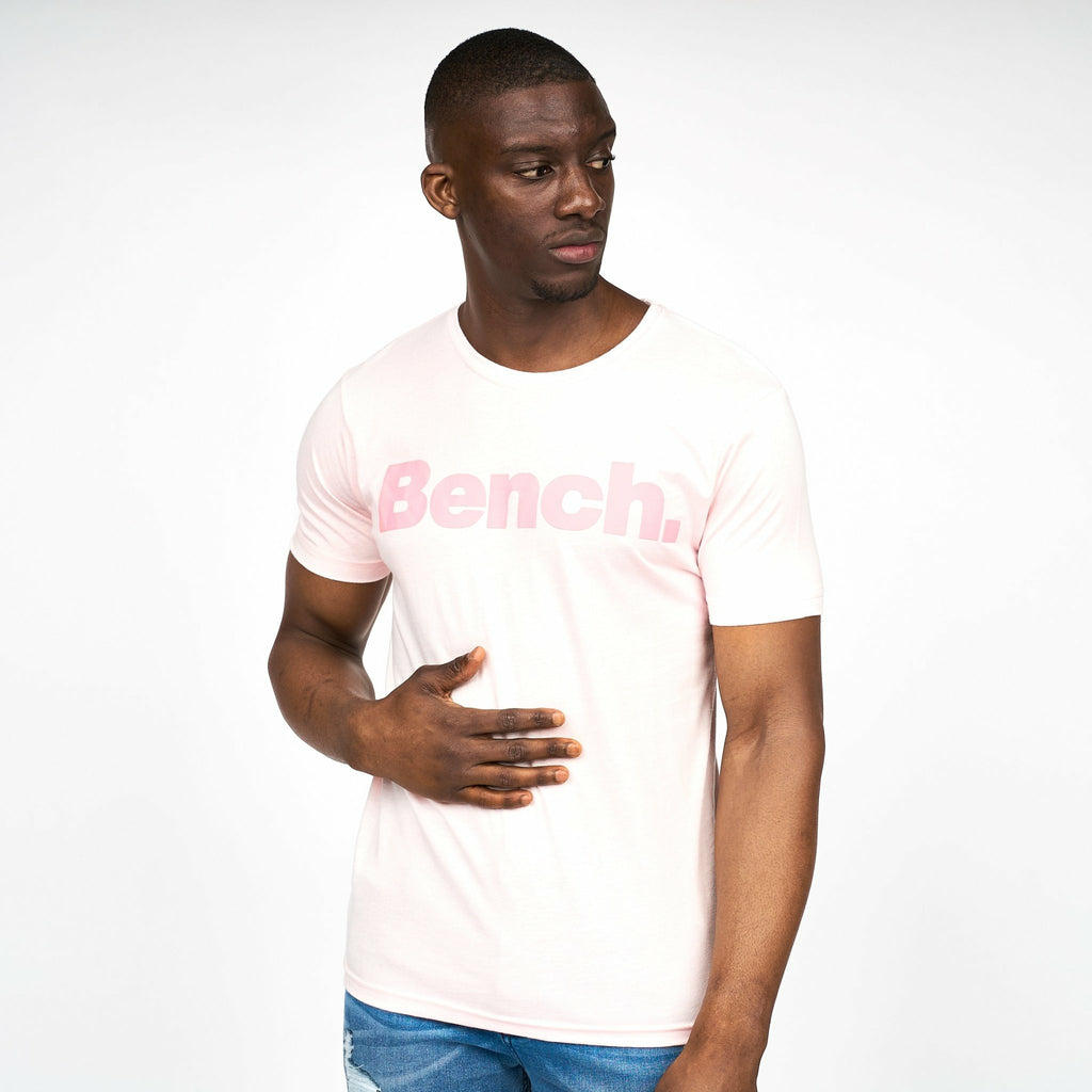 Mens Cortez T-Shirt Pink Marl - Bench Clothing - #LoveMyHoodST-Shirts