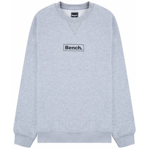 Mens Doyle Sustainable Crew Sweat Grey Marl - Bench Clothing - #LoveMyHoodLHoodies