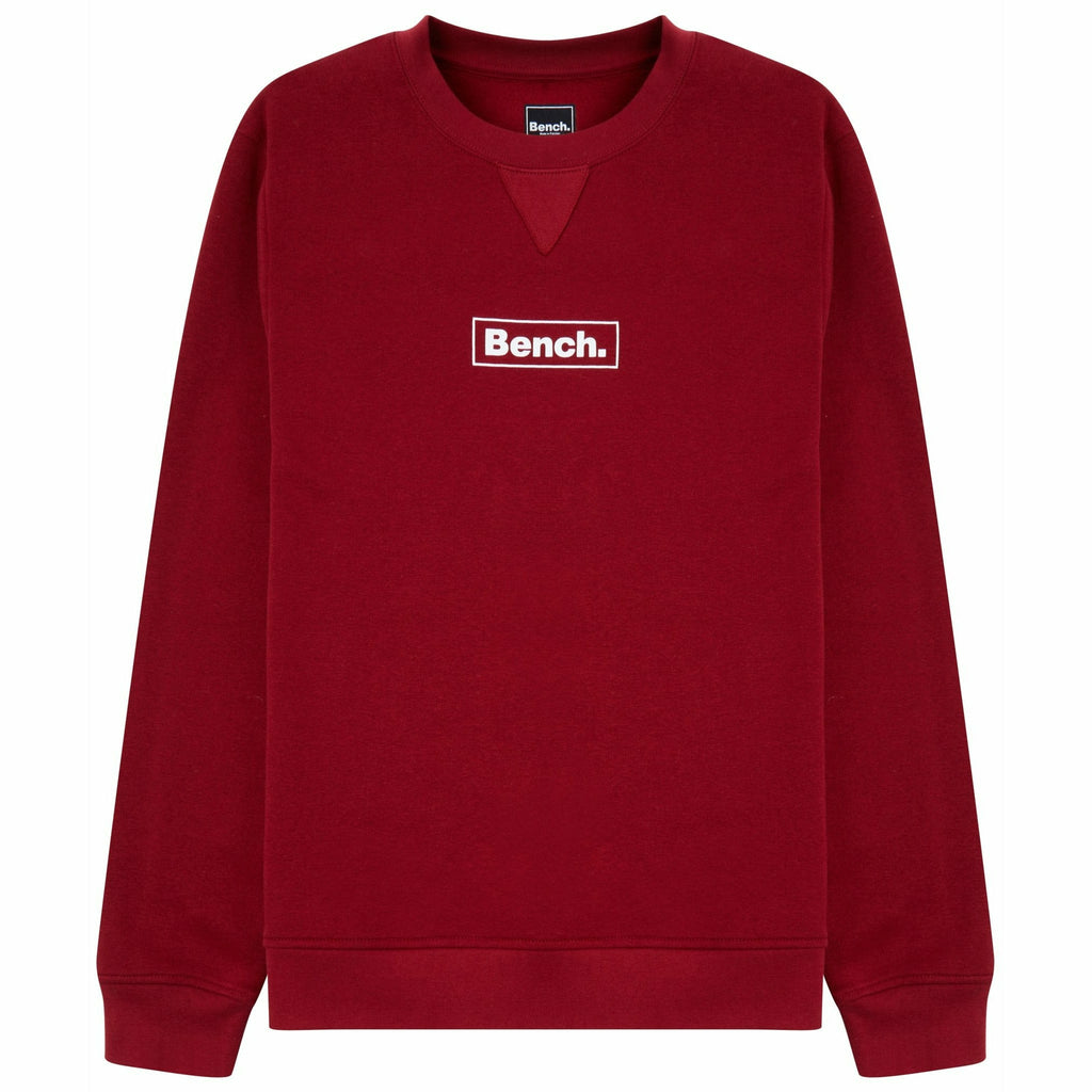Mens Doyle Sustainable Crew Sweat Red - Bench Clothing - #LoveMyHoodLHoodies