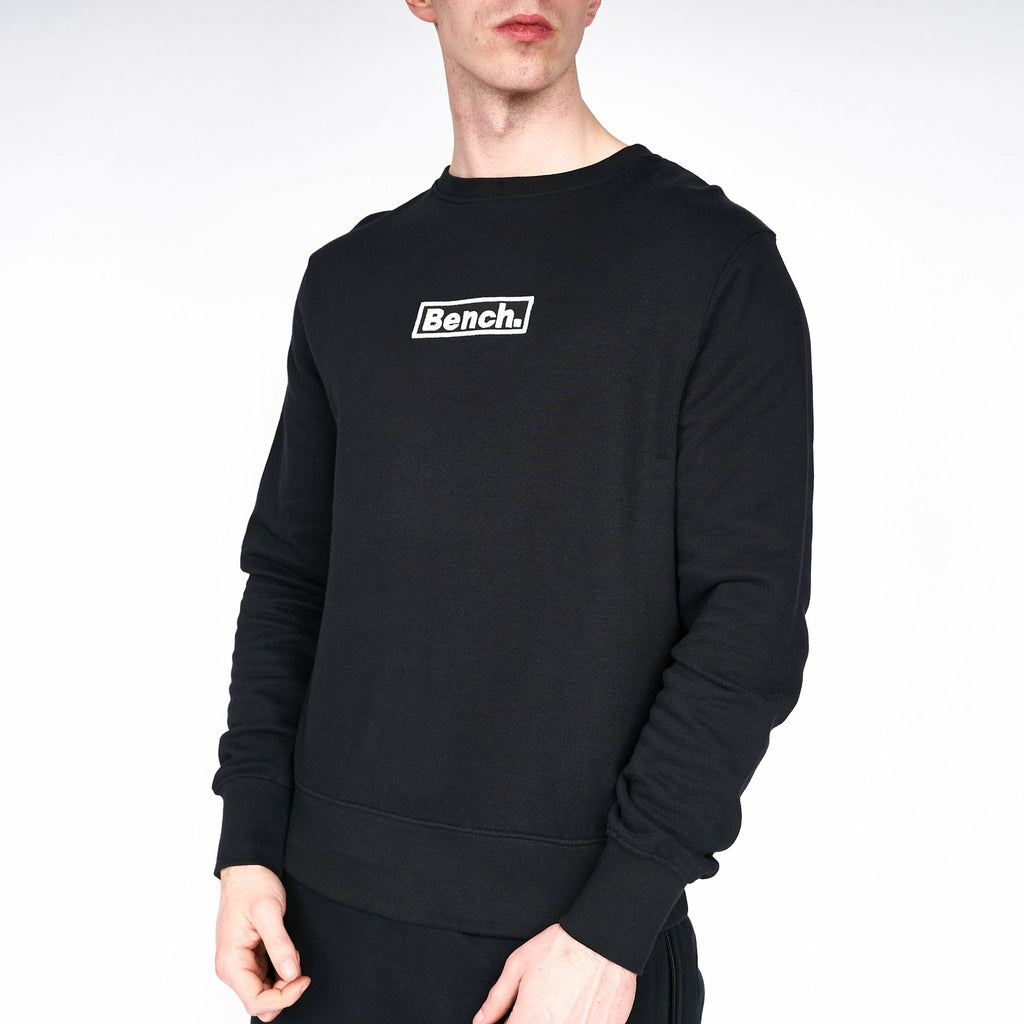 Mens Gilford Crew Sweat Black - Bench Clothing - #LoveMyHoodSHoodies