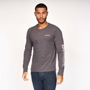 Mens Queens Long Sleeve T-Shirt 2 pack Charcoal Marl/Grey Marl - Bench Clothing - #LoveMyHoodST-Shirts