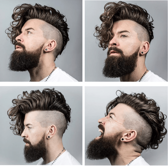 Zero Fade with Double Undercut