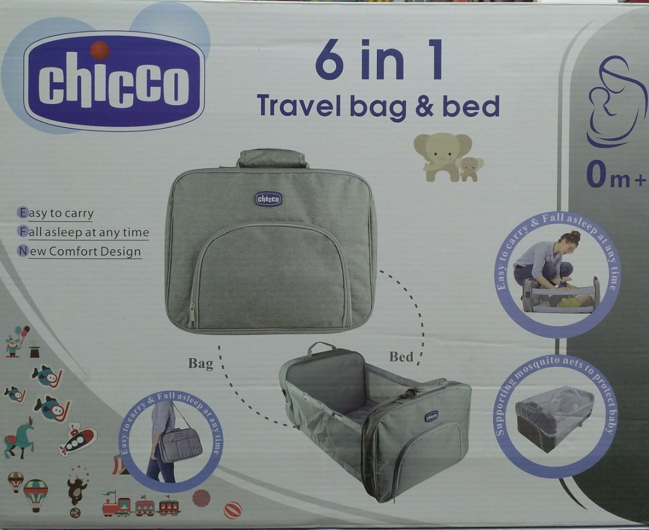 Chicco multi-function travel bag bed - Mammaz Cart