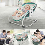Load image into Gallery viewer, Mastela 5 in 1 Baby Bassinet Rocker Rocking Napper, Bounce, Chair with Removable Baby Bassinet & Melody - Green - Mammaz Cart