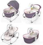 Load image into Gallery viewer, Mastela 5 in 1 Baby Bassinet Rocker Rocking Napper, Bounce, Chair with Removable Baby Bassinet & Melody - Purple - Mammaz Cart