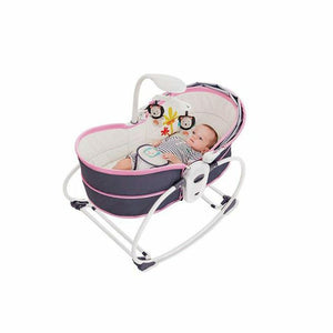 Mastela 5 in 1 Baby Bassinet Rocker Rocking Napper, Bounce, Chair with Removable Baby Bassinet & Melody - Purple - Mammaz Cart