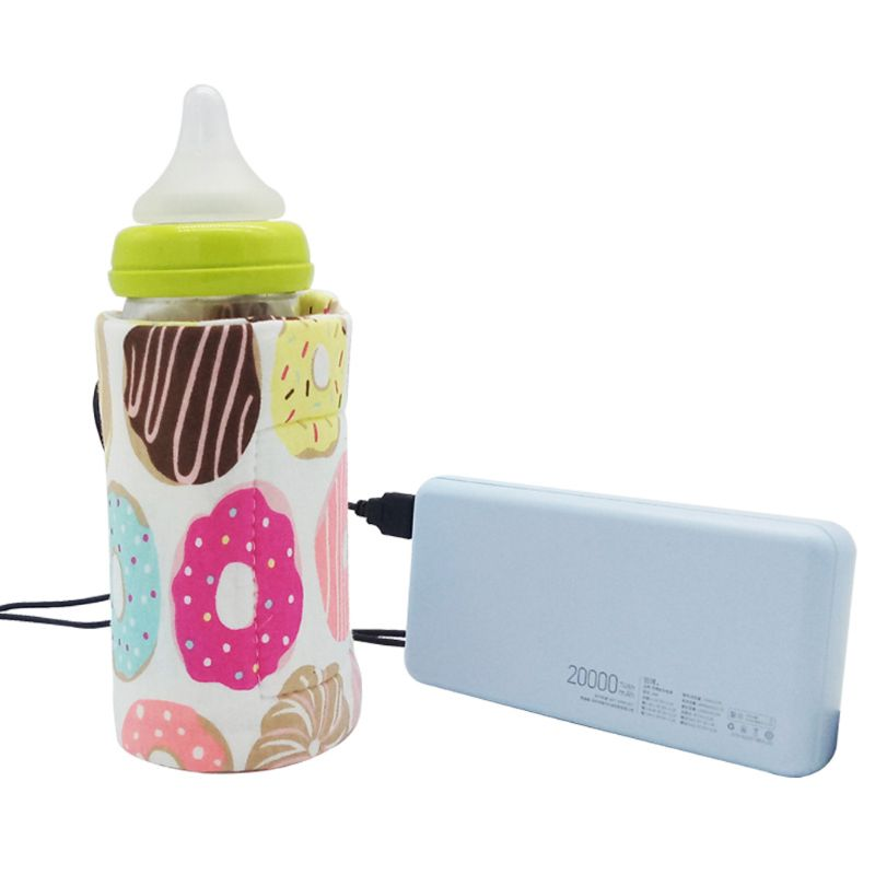 Aby Bottle Warmer - USB Portable Travel Mug Milk Heater Bottle Heater Feeding Bottle Infant Storage Bag - Mammaz Cart