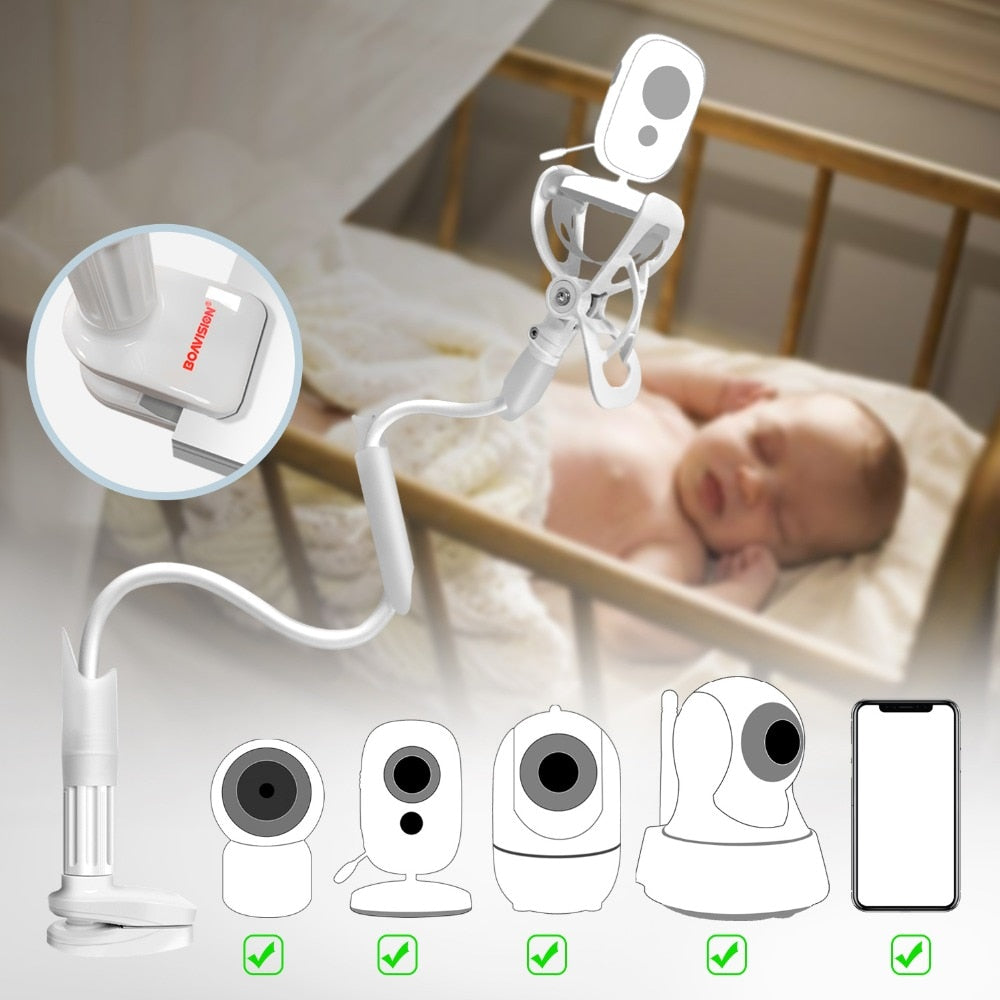 Universal Baby Monitor Wall Mount, Baby Camera & Monitor Holder for Nursery Crib, Compatible with Most Baby Monitors - Mammaz Cart