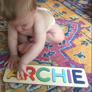 Customize Montessori Toy Wood Name Puzzle Kids Gift - Mammaz Cart