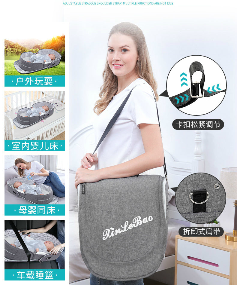 Multifunction Portable Baby Bed Travel Sun Protection Mosquito Cribs Foldable Mummy Bag - Mammaz Cart