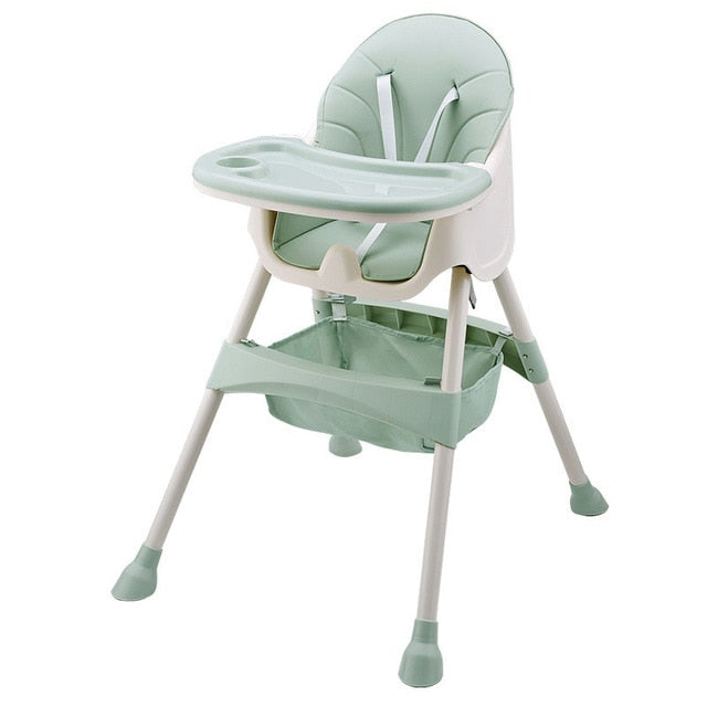 Baby High Feeding Chair Portable Kids Table Foldable Dining Chair Adjustable Height With Cushion - Mammaz Cart