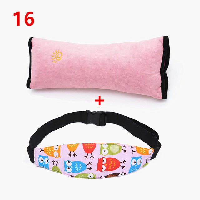 Car Safety Seat Sleep Positioner Children Head and Shoulder Belts Protection Cushion Support Pillow Baby Newborn - Mammaz Cart