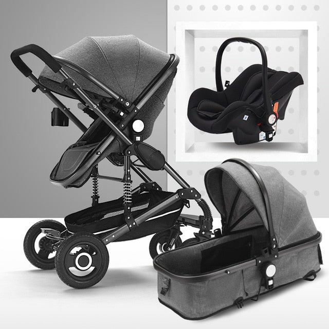3 in 1 luxury Foldable Infant Toddler Stroller & Car Seat - Mammaz Cart