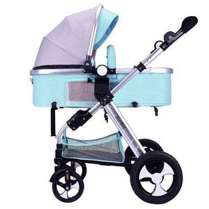 Baby Stroller 2 in 1 luxury Infant Stroller Luxury Newborn Foldable - Mammaz Cart