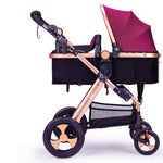 Load image into Gallery viewer, Baby Stroller 2 in 1 luxury Infant Stroller Luxury Newborn Foldable - Mammaz Cart