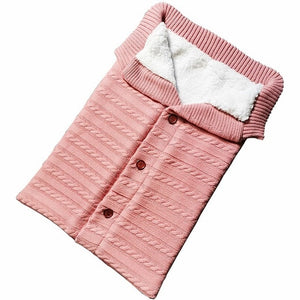 Wool Sweater Baby Sleeping Bag Envelope Winter Kids Sleepsack For Stroller Knitted - Mammaz Cart