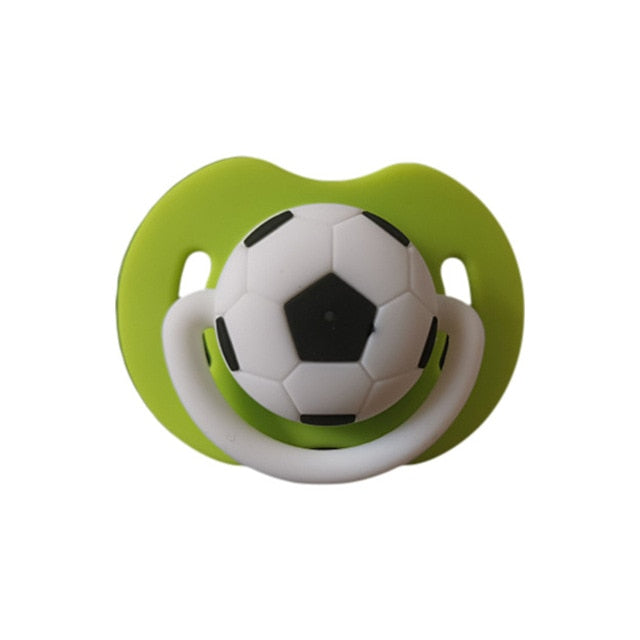 Cute Baby Pacifiers Designed for Soccer Fans that make them Perfect Baby Shower Gift for Small Boys or Girls! - Mammaz Cart