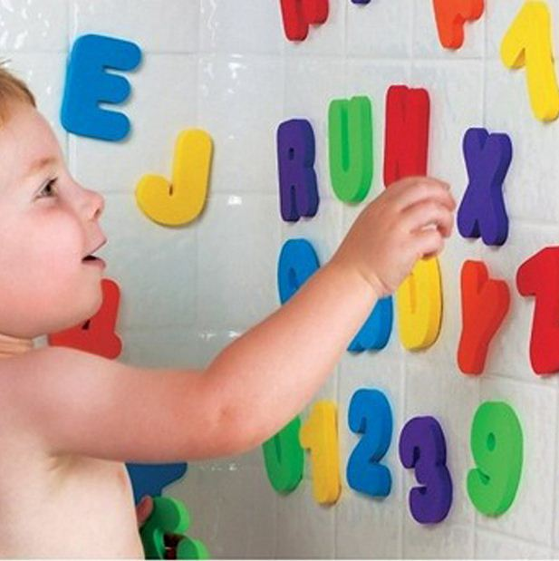 36pcs/set Alphanumeric Letter Puzzle Bath Toys Kids - Mammaz Cart