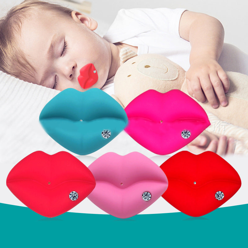Cute Baby Pacifiers Designed with Adorable kiss Lips & Funny Teeth that make them Perfect Baby Shower Gift for Small Boys or Girls! - Mammaz Cart