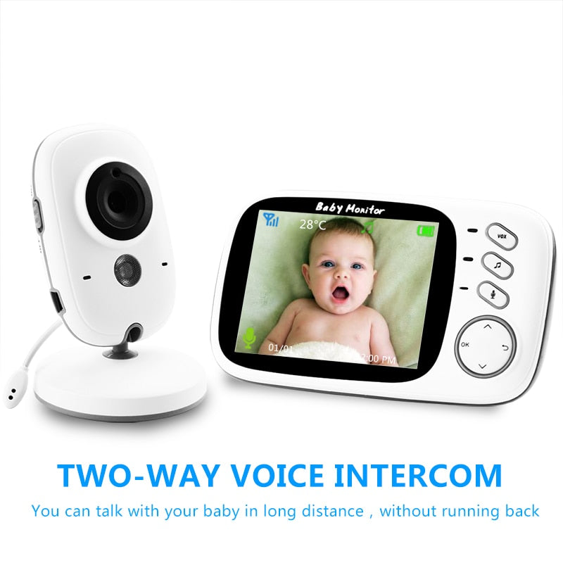 Two Way Audio Baby Monitor 3.2 inches LCD - Mammaz Cart