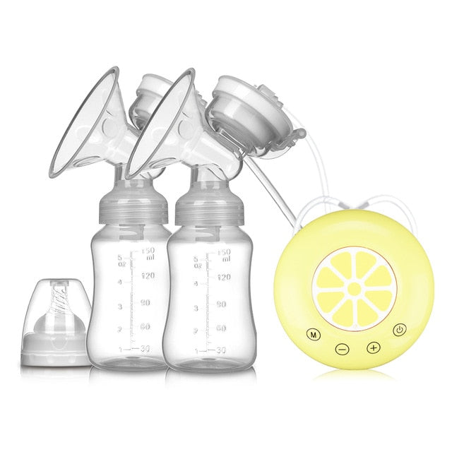 Single/Double Electric Breast Pump USB Electric Breast Pump With Baby Milk Bottle Cold Heat Pad BPA free Powerful Breast Pumps - Mammaz Cart